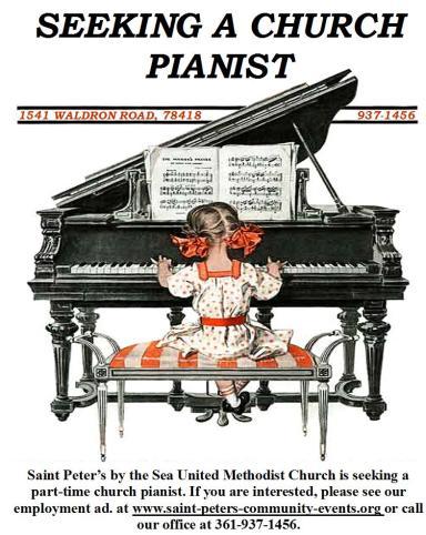 Pianist church flyer