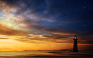 lighthouse-sunset-sky